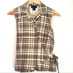 ⭐️3 for $20⭐️Ann Taylor Silk Plaid Shirt! Lovely!